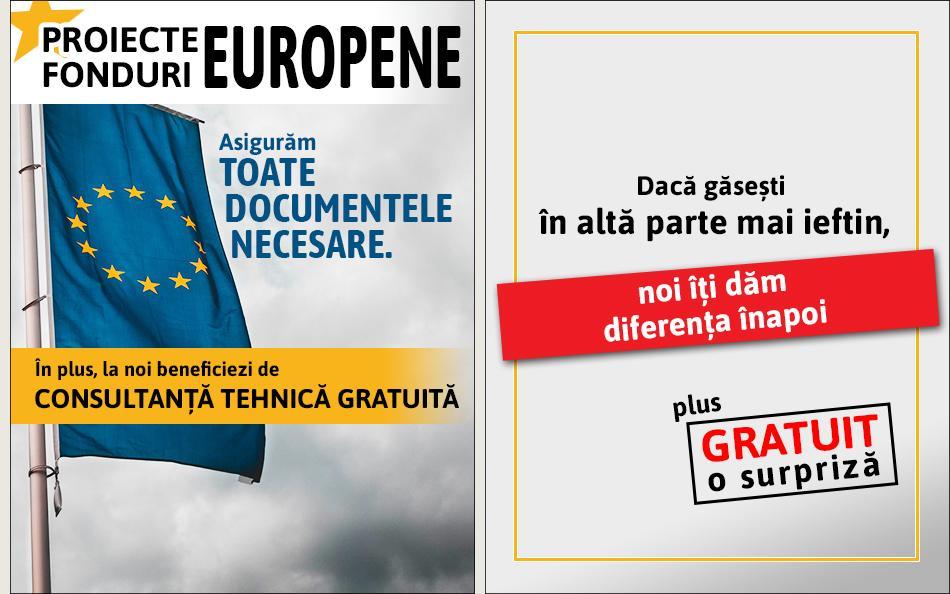 Fonduri europene + diferenta inapoi