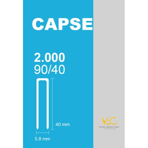 Capse prinse in benzi tip U 90/40 (2000 buc/cutie)
