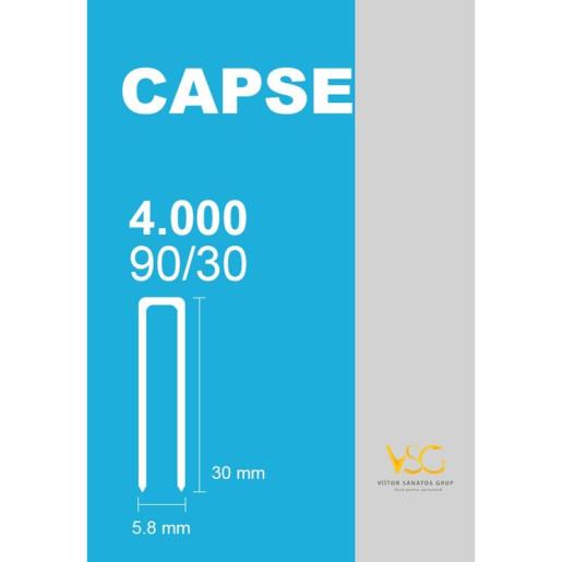 Capse tip U 90/30 pentru capsator pneumatic
