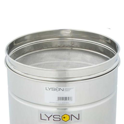 Maturator inox 30 L Lyson cu cu canea inox, manere si sita strecurator - detaliu