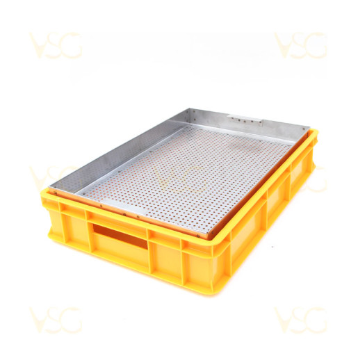 Tava descapacit 10 cm plastic cu filtru inox si suport rame 3