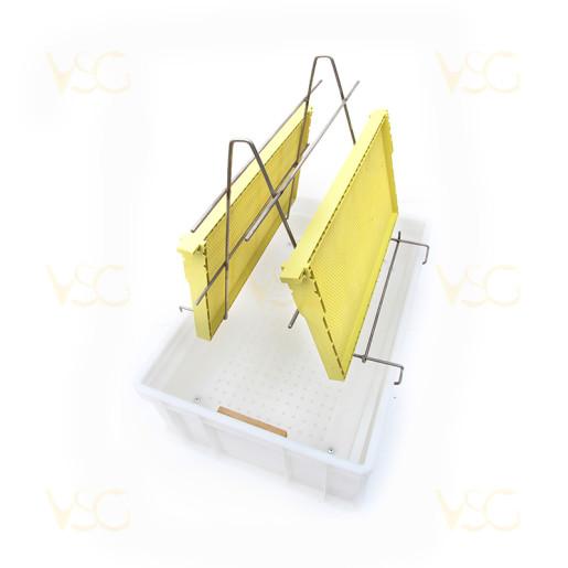Tava descapacit 20 cm plastic cu filtru imbunatatit plastic si suport rame 1