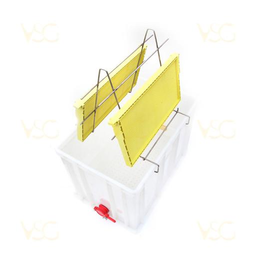 Tava descapacit 40 cm plastic cu filtru imbunatatit plastic, canea si suport rame 1