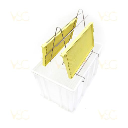 Tava descapacit 40 cm plastic cu filtru imbunatatit plastic si suport rame 1