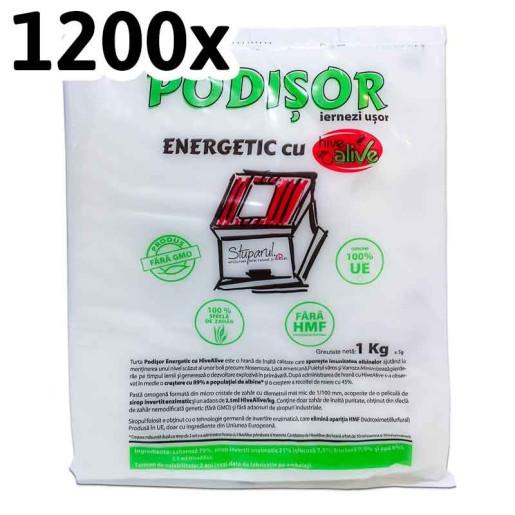 Turta Podisor Energetic cu Hive Alive 1kg (1200 buc)