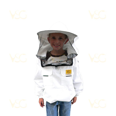Bluza apicola cu palarie pentru copii