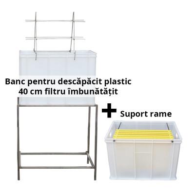 Banc pentru descapacit plastic 40 rame filtru imbunatatit +suport rame