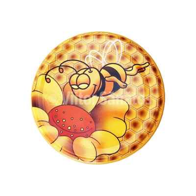 Capac borcan TB 82 model albina si floare cu zambet