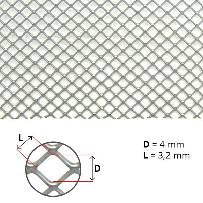 Plasa antivarroa din inox (ochi patrat 3.2x3.2 mm)