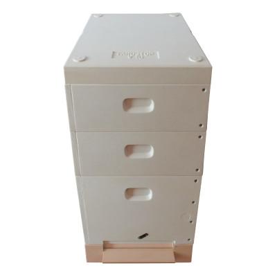 Stup 10 rame din poliuretan, soclu, cuib 300, 2x cat 1/2, capac, Farostup