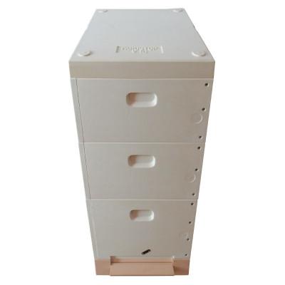 Stup 10 rame din poliuretan, soclu, cuib 300, 2x cat 3/4, capac, Farostup
