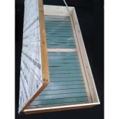 Topitor solar din lemn pentru ceara