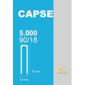 Capse tip U 90/18 pentru capsator pneumatic, 5000 buc/cutie