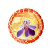 Capac borcan TB 82 model albina pe floare mov