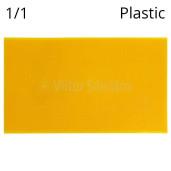 Faguri plastic 1/1 galbeni subtiri