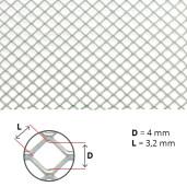 Plasa antivarroa Aluminiu (ochi patrat 3,2 X 3,2 mm)